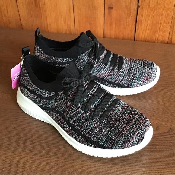 skechers slip on memory foam sneakers